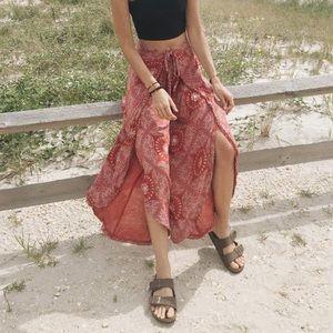 Pants - Red Split Leg pants